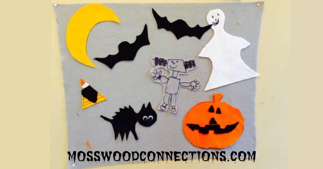 DIY Felt Boards  #mosswoodconnections #Halloweeen