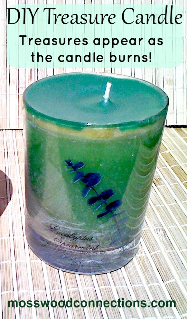 DIY Treasure Candle #Craftsforolderkids #mosswoodconnections #DIYcandle