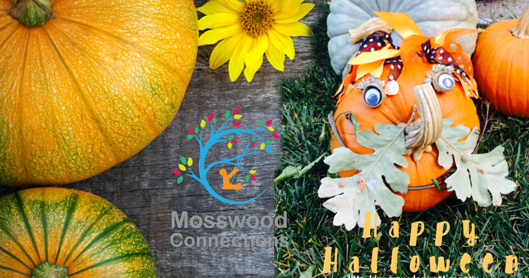 Decorating a Halloween Pumpkin Art Project With Things Found in Nature  #mosswoodconnections #finemotor  #Halloween