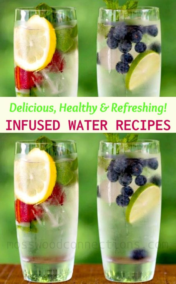 Amber's Infused Water Recipes #mosswoodconnections #infuseedwaterrecipes