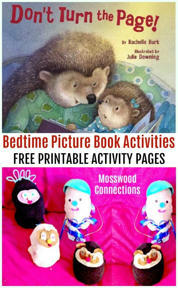 Don't Turn the Page Picture Book Activities #picturebooks #mosswoodconnections #literacy
