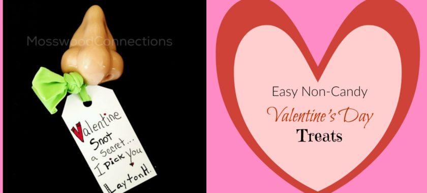 Easy Non-Candy Valentine's Day Treats #mosswoodconnections #Valentines #crafts #non-candyvalentine #holidays #humor