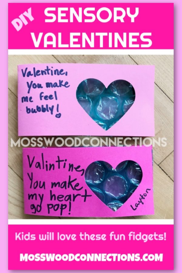 Easy Peasy Bubble Wrap Valentines #Valentines #non-candyvalentine #mosswoodconnections #sensory