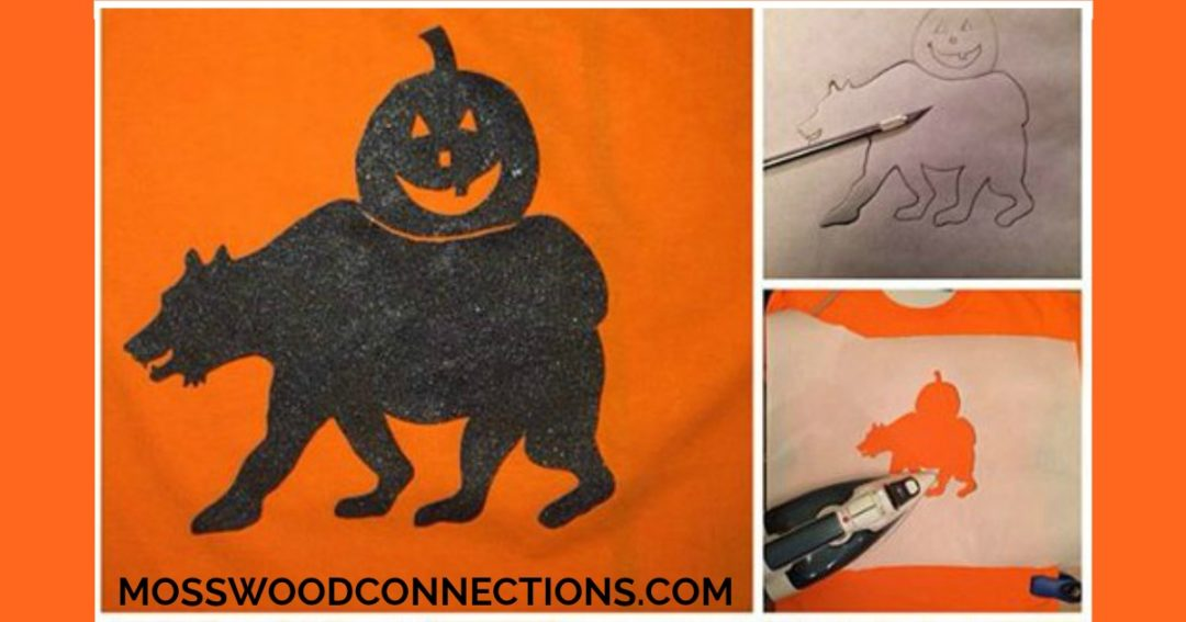 Easy T-Shirt Stencil and T-Shirt Decoration Craft Projects  #mosswoodconnections #finemotor  #FeltBoard #Halloween