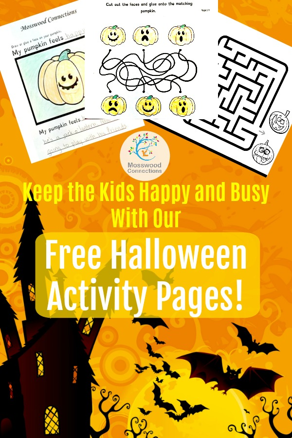 Keep the Kids Happy and Busy With Our Free Halloween Activity Pages! #mosswoodconnections #Halloween #Holidays #FreeActivityPages