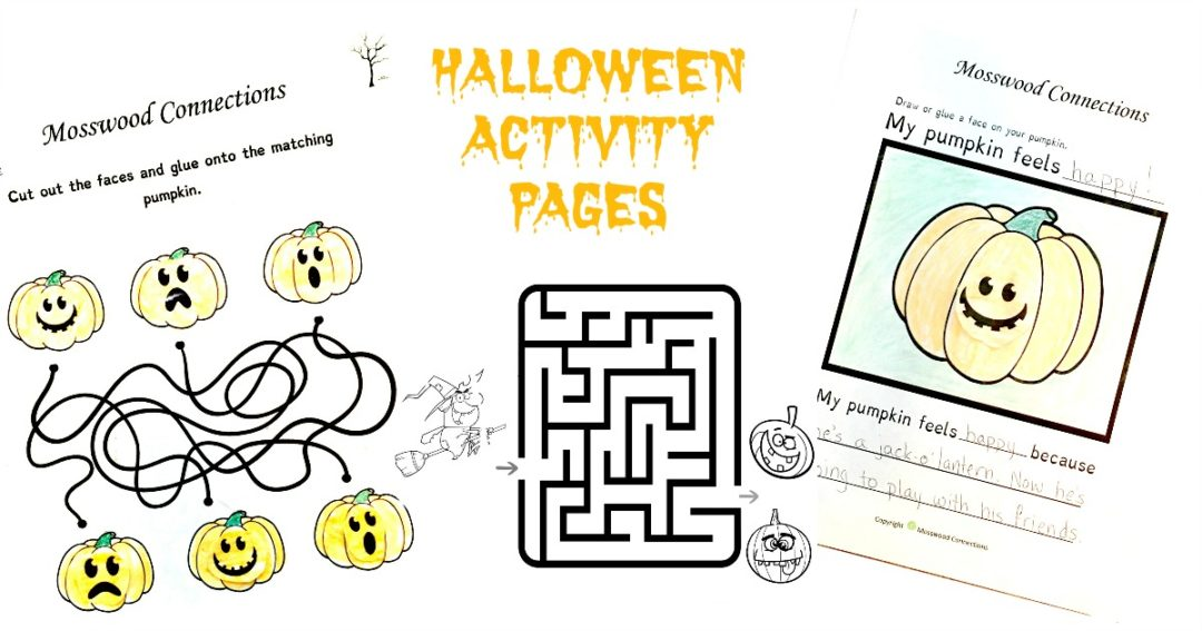Halloween Activity Pages #mosswoodconnections #crafts #artprojects #Halloween