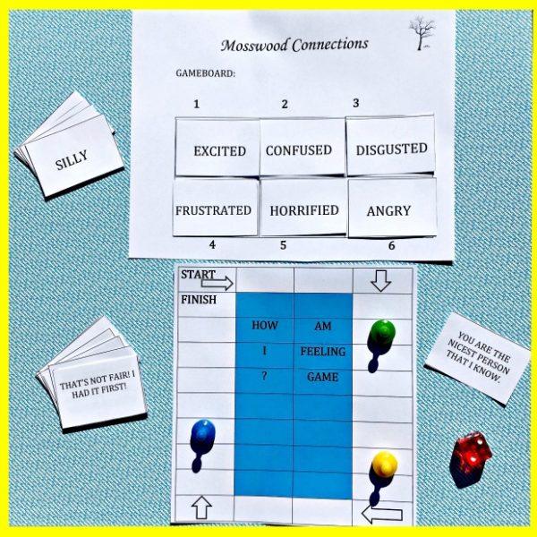 How Am I Feeling A Printable Social Skills Game #mosswoodconnections #autism #socialskills #feelings #printablegame