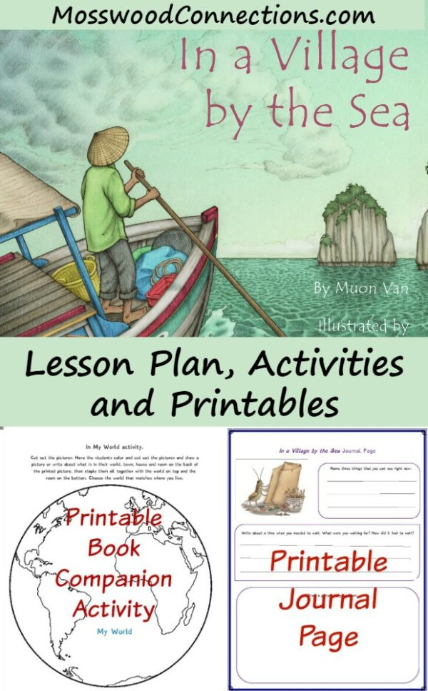 In a Village by the Sea Picture Book Activities #picturebooks #mosswoodconnections #literacy #multicultural