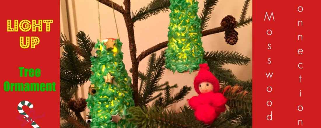 Light Up Christmas Tree Craft #mosswoodconnections #kidmade #ornament #Christmas #holidays
