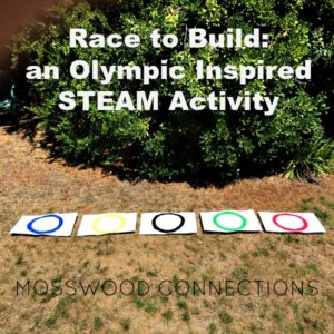 Race to Build: an Olympic Inspired STEAM Activity #mosswoodconnections #grossmotor #STEM #Olympicactivity