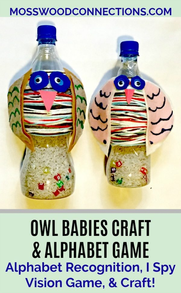 Owl Babies Book Craft and Alphabet Activity #mosswoodconnections #education #alphabet #homeschooling #bookextensionactivity