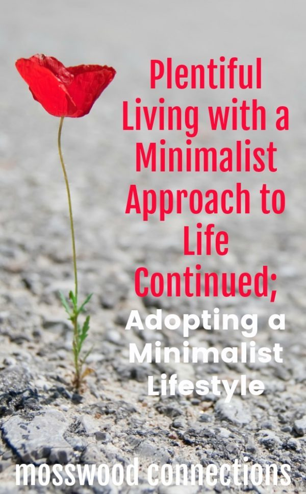 Plentiful Living with a Minimalist Approach to Life. #parenting #minimalism #mosswoodconnections