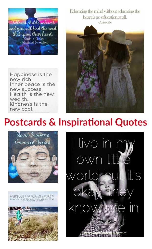 Postcards & Inspirational Quotes #mosswoodconnections