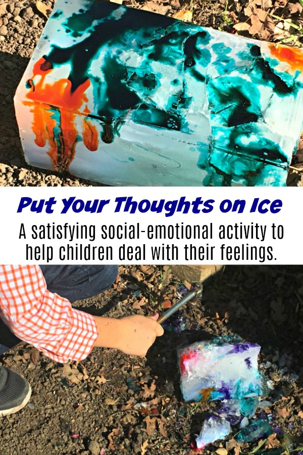 Put Your Thoughts on Ice: Social Emotional Activity #mosswoodconnections #autism #socialskills #feelings #angermanagement #obsessivethoughts