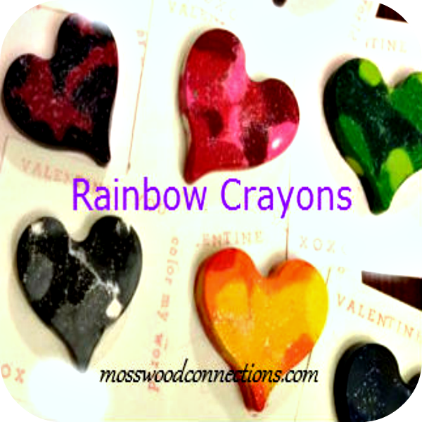 More Than Five Ways to Reuse and Recycle Old Crayons #mosswoodconnections #upcycled #craftsforkids