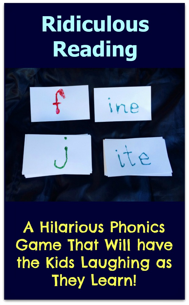 Ridiculous Reading Phonics Game #mosswoodconnections #education #phonics #homeschooling #reading