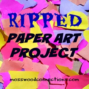 Ripped Paper Art Project - Mosswood