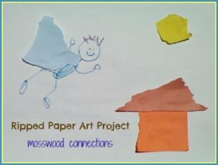 Ripped Paper Art Project #artprojects #mosswoodconnections #finemotor