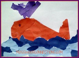 Art projects for kids - ripped paper collage