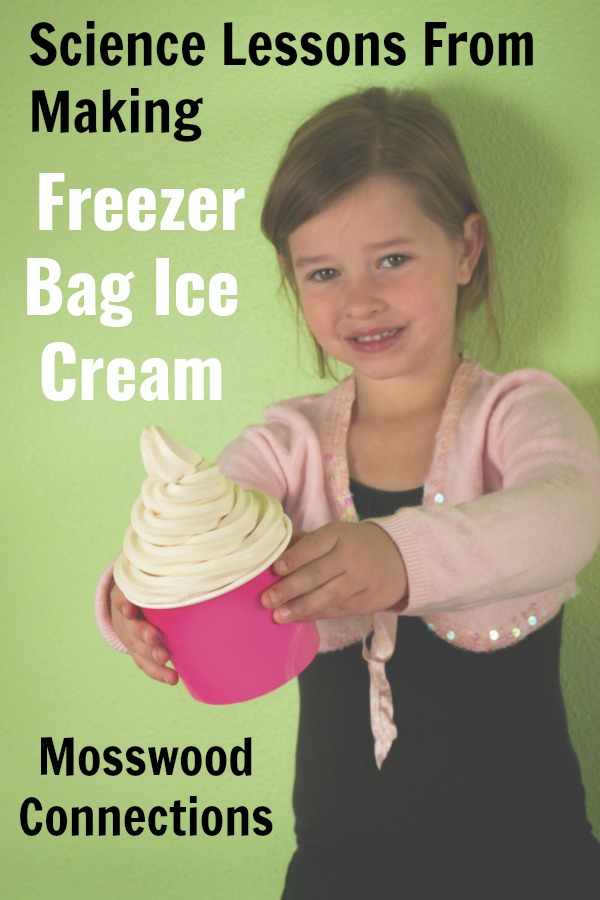 Science Lessons From Making Freezer Bag Ice Cream #mosswoodconnections #science #freezerbagicecream #activelearning #education #homeschool