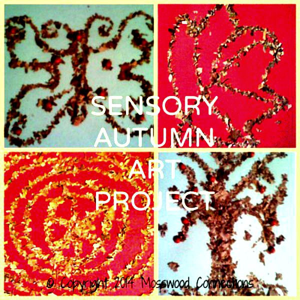 Sensory Autumn Art Project #mosswoodconnections #artprojects #Autumn #parenting #sensory