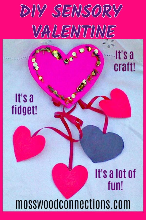 Sensory Friendly Valentines Fidget Toy #mosswoodconnections #Valentines #crafts #noncandyvalentine #holidays #DIYfidgettoy #sensory