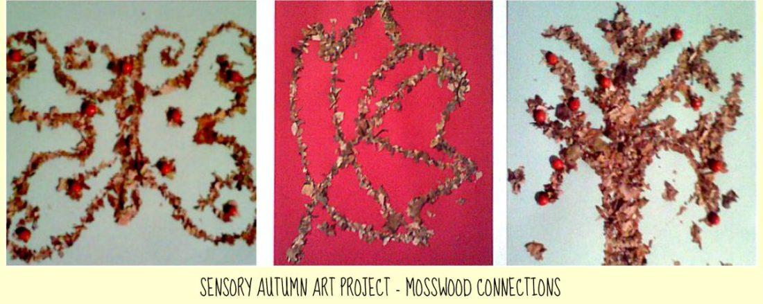 Sensory Autumn Art Project #mosswoodconnections #artprojects #Autumn #parenting #sensory