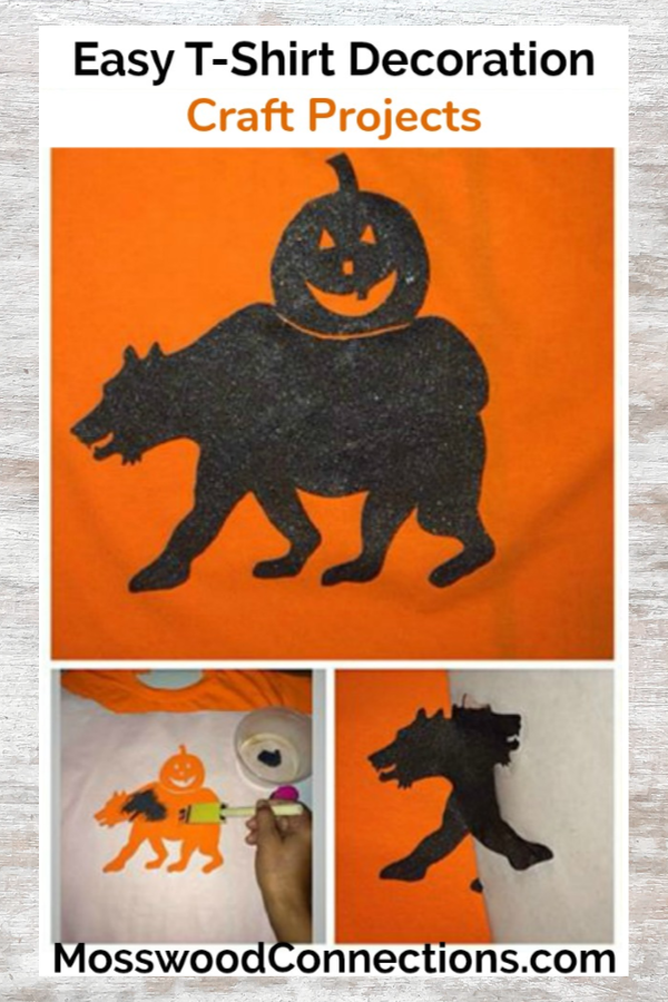 T-Shirt Stencils are an easy way to decorate t-shirts for any occasion. #mosswoodconnections #craftsforkids #tshirtdecorating #holidays