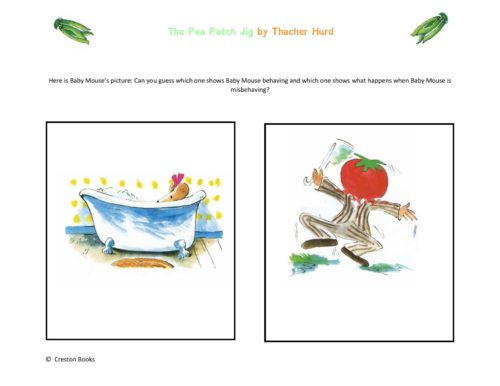 The Pea Patch Jig Picture Book Activities #mosswoodconnections #picturebooks #ThatcherHurd #PeaPatchJig #Bookactivities #literacy