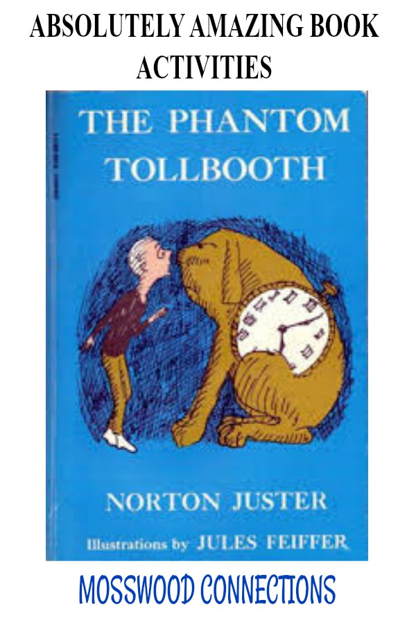 Go on The Phantom Tollbooth Journey -Lesson plans and teaching ideas #Intermediatereaders #mosswoodconnections #booklessons #homeschooling #literacy #reluctantreaders #PhantomTollbooth