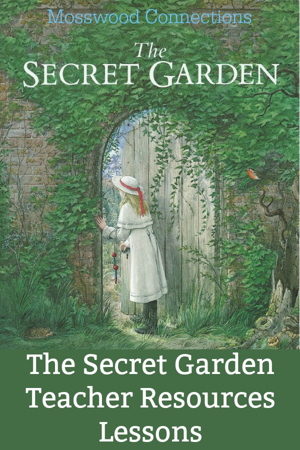 Lesson plans and teaching ideas for The Secret Garden #Intermediatereaders #mosswoodconnections #booklessons #homeschooling #literacy #reluctantreaders