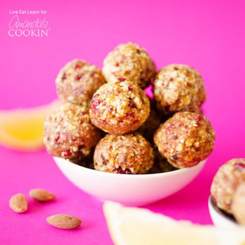 Cranberry Bliss Bites-Fun and Healthy Snacks