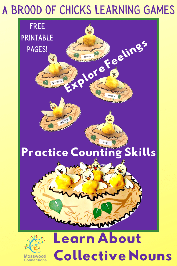 A Brood of Chicks Learning Games & Crafts: Creative Collective Nouns #mosswoodconnections #feelings #collectivenouns #educational #homeschooling