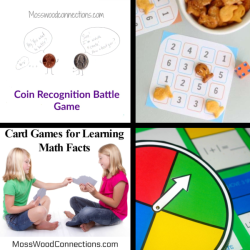 Active Math Games for Elementary School Hands-on Learning #mosswoodconnections #math #handsonlearning #activemathgames #elementaryschool #homeschool