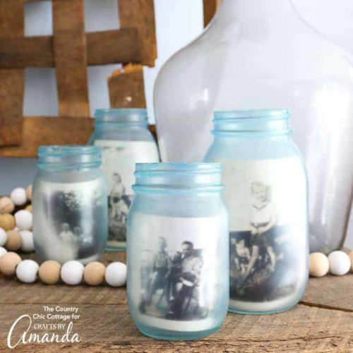 Mason-Jar-Photo-Frames DIY Mother's Day Gift  #mosswoodconnections #crafts #parenting  #mothersday #DIY #homemadegift