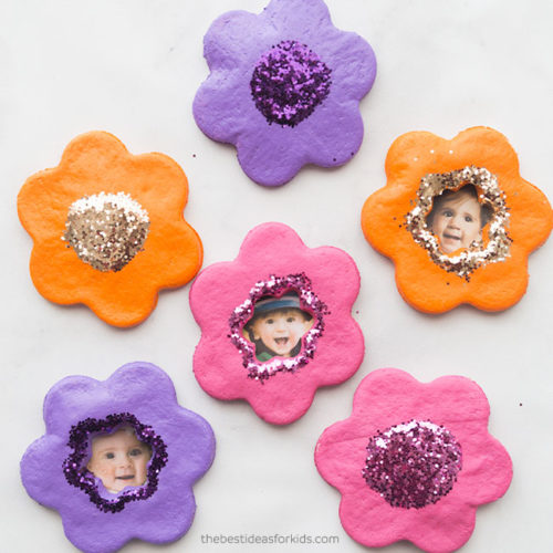 Salt-Dough-Ornament-Flowers-Craft  DIY Mother's Day Gift  #mosswoodconnections #crafts #parenting  #mothersday #DIY #homemadegift