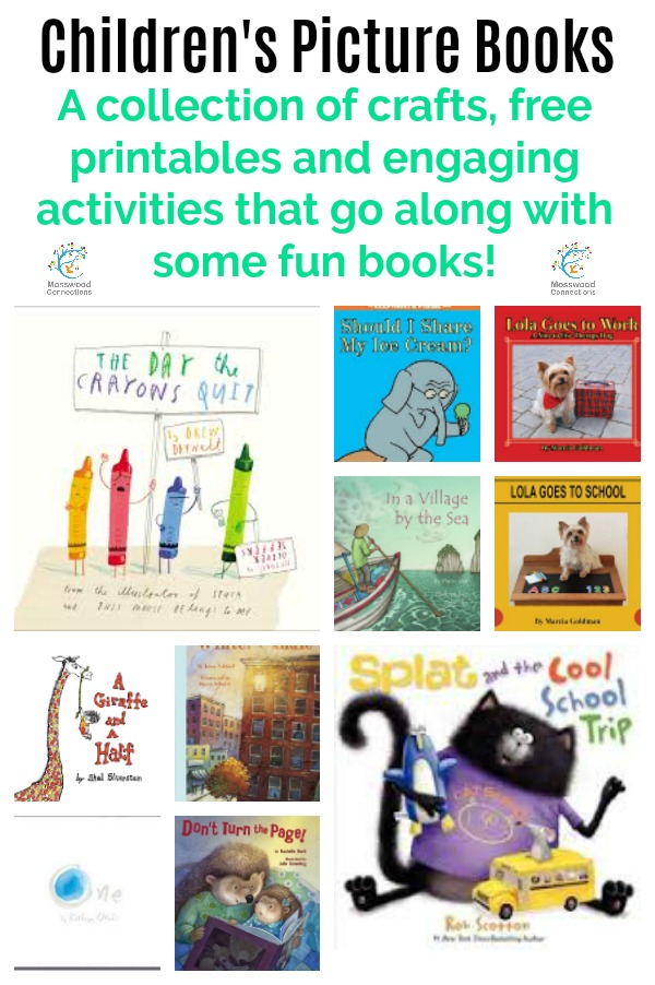 Picture Books Lesson Plans & Extension Activities for Over a Dozen Popular Picture Books #mosswoodconnections  #education #literacy #picturebooks #bookunit #teacherguide #lessonplan