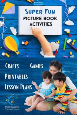 Picture Books Lesson Plans & Extension Activities for Over a Dozen Popular Picture Books - Super Fun Picture Book Activities #mosswoodconnections