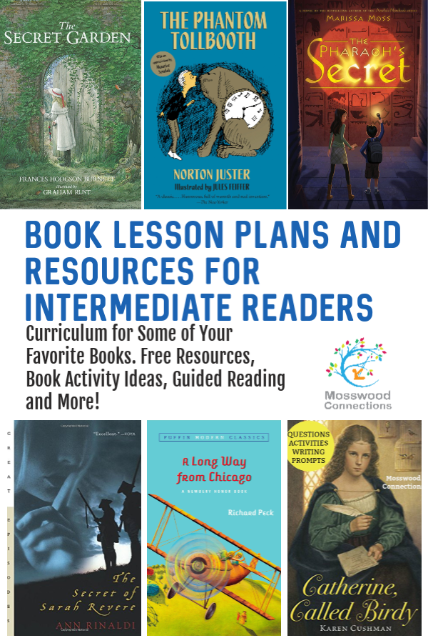 Intermediate Readers Literacy and Book Curriculum #mosswoodconnections  #education #literacy #intermediatereaders #bookunit #teacherguide #lessonplan