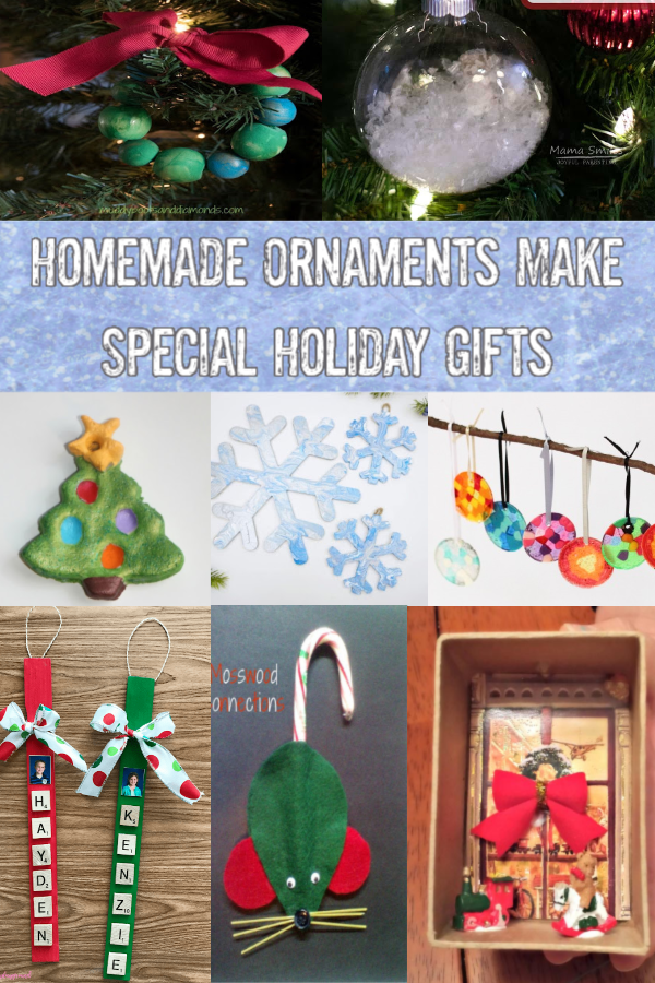 Homemade Ornaments Make Special Holiday Gifts #mosswoodconnections #holidays #Craftsforkids #diy #kidmadegift