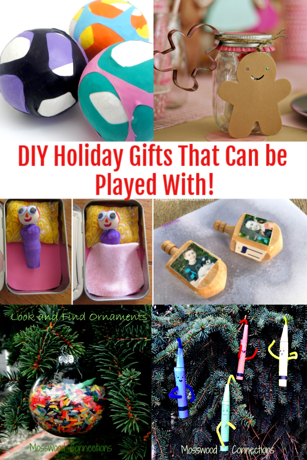 DIY Holiday Gifts That Can be Played With! An Absolutely Awesome Collection of Kid Made Gifts #Craftsforkids #mosswoodconnections #kidmadegift