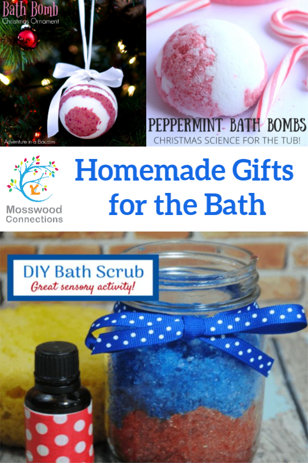 Kid-Made Holiday Gifts for the Bath #mosswoodconnections #Craftsforkids #holidays #kidmadegift