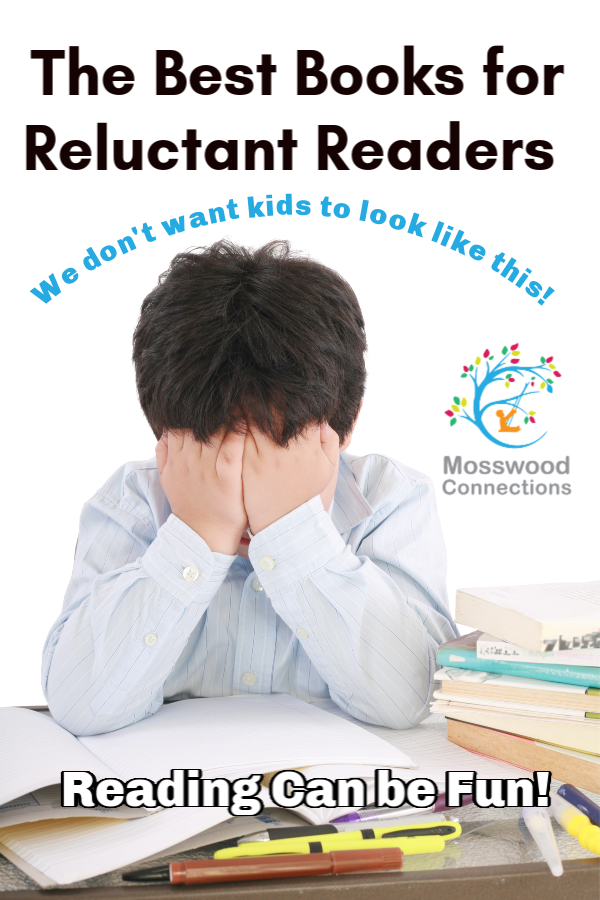 Help Children Develop Reading Fluency and Comprehension Skills: High interest Books for Reluctant Readers #mosswoodconnections #literacy #reluctantreaders #chapterbooks #readingskills #readingfluency
