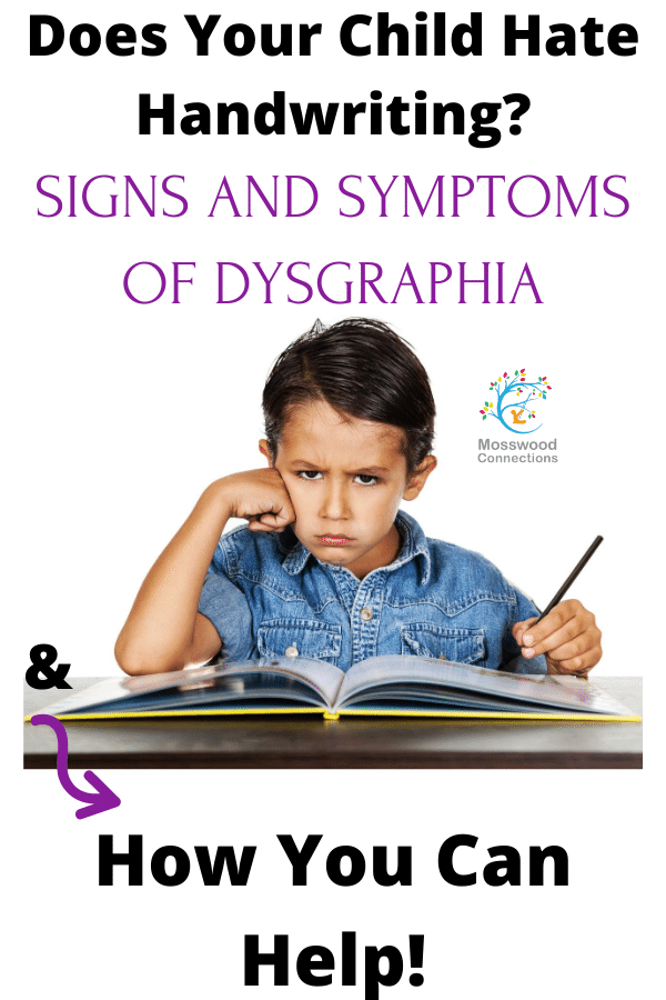 What is Dysgraphia_ Symptoms, Treatment, and Accommodations #mosswoodconnections #parenting #dysgraphia #handwriting #finemotor #learningdisability