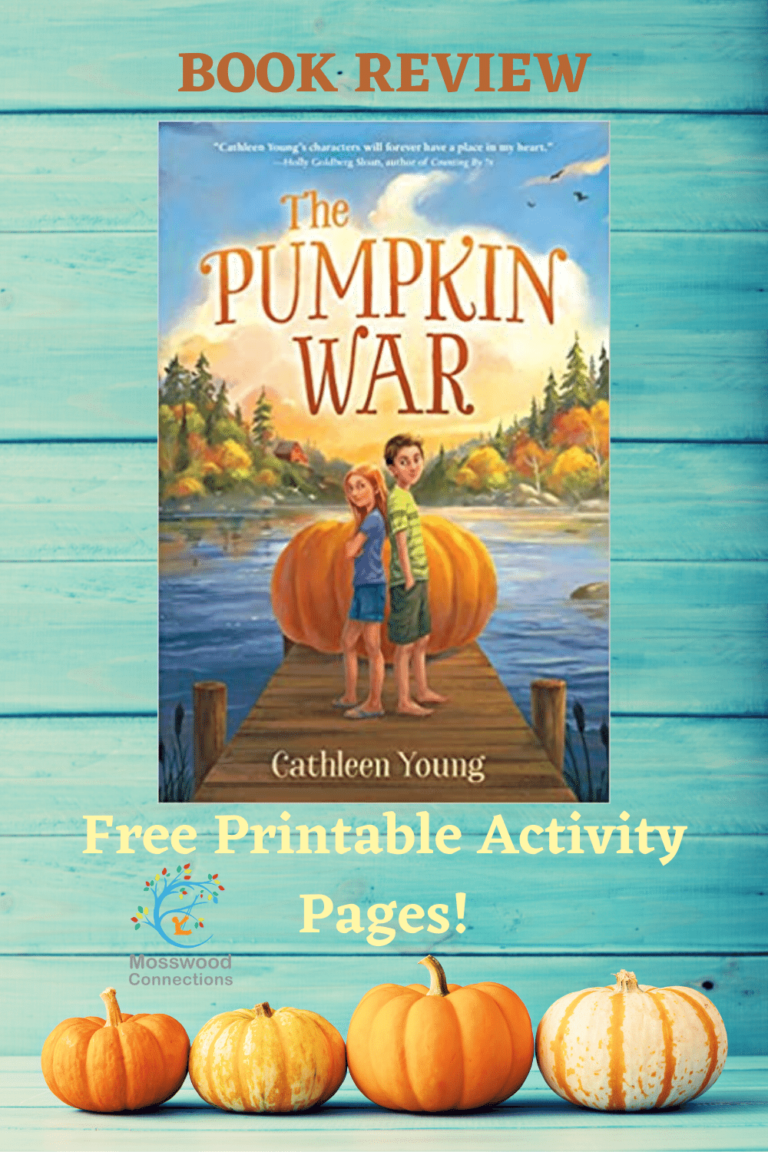 The Pumpkin War Book Review #mosswoodconnections #YAbooks #chapterbook #freeworksheets