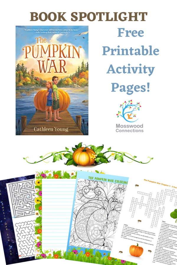 The Pumpkin War Printable Activity Pages #mosswoodconnections #YAbooks #reluctant readers