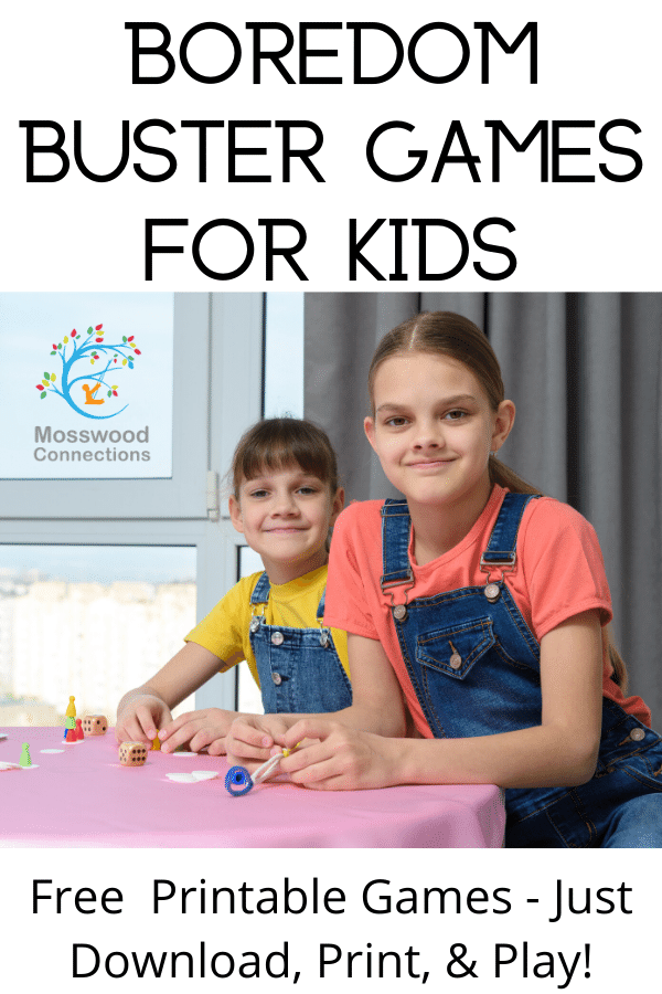 BOREDOM BUSTER GAMES FOR KIDS #mosswoodconnections  #education #literacy #boardgame #freeprintablegame