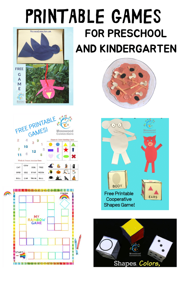 PRINTABLE BOARD GAMES FOR PRESCHOOL AND KINDERGARTEN #mosswoodconnections  #education #literacy #boardgame #freeprintablegame #preschool #kindergarten
