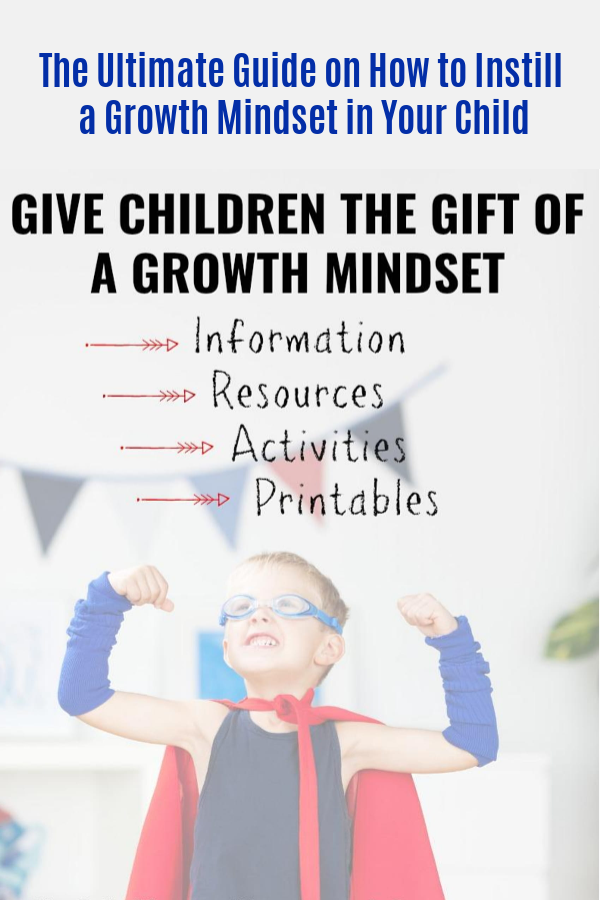 The Ultimate Guide on How to Instill a Growth Mindset in Your Child Activities to Develop a Growth Mindset in Elementary School-Aged Kids Give Your Child the Gift of a Growth Mindset #mosswoodconnections #growthmindset #parenting #education